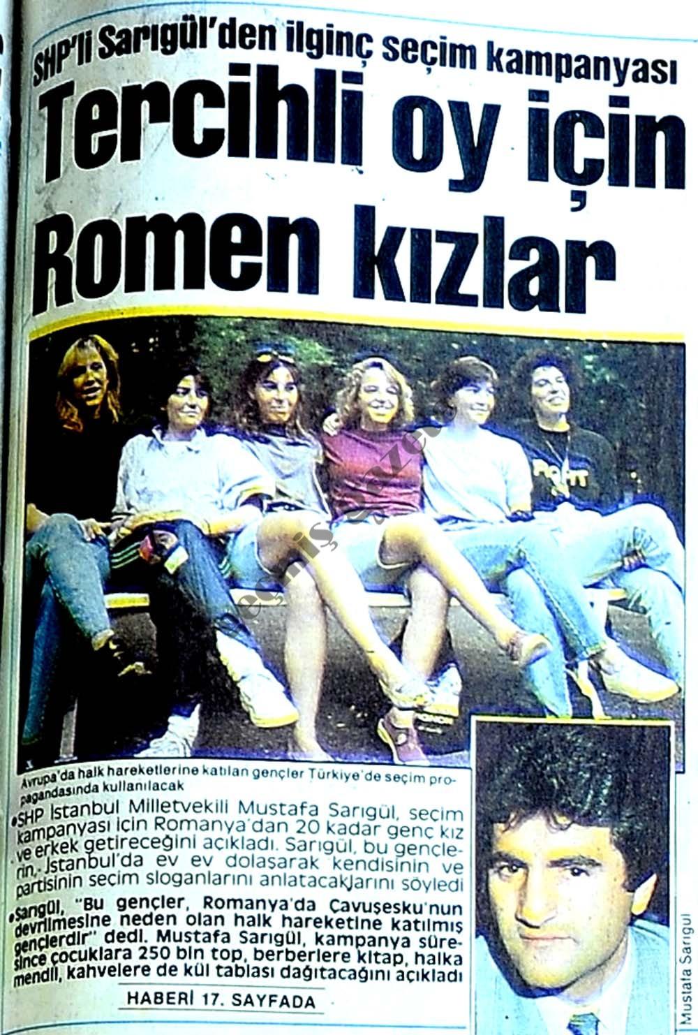 Tercihli oy için Romen kızlar