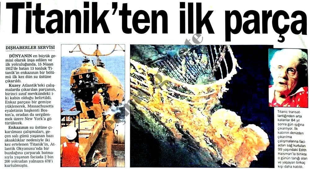 Titanik'ten ilk parça