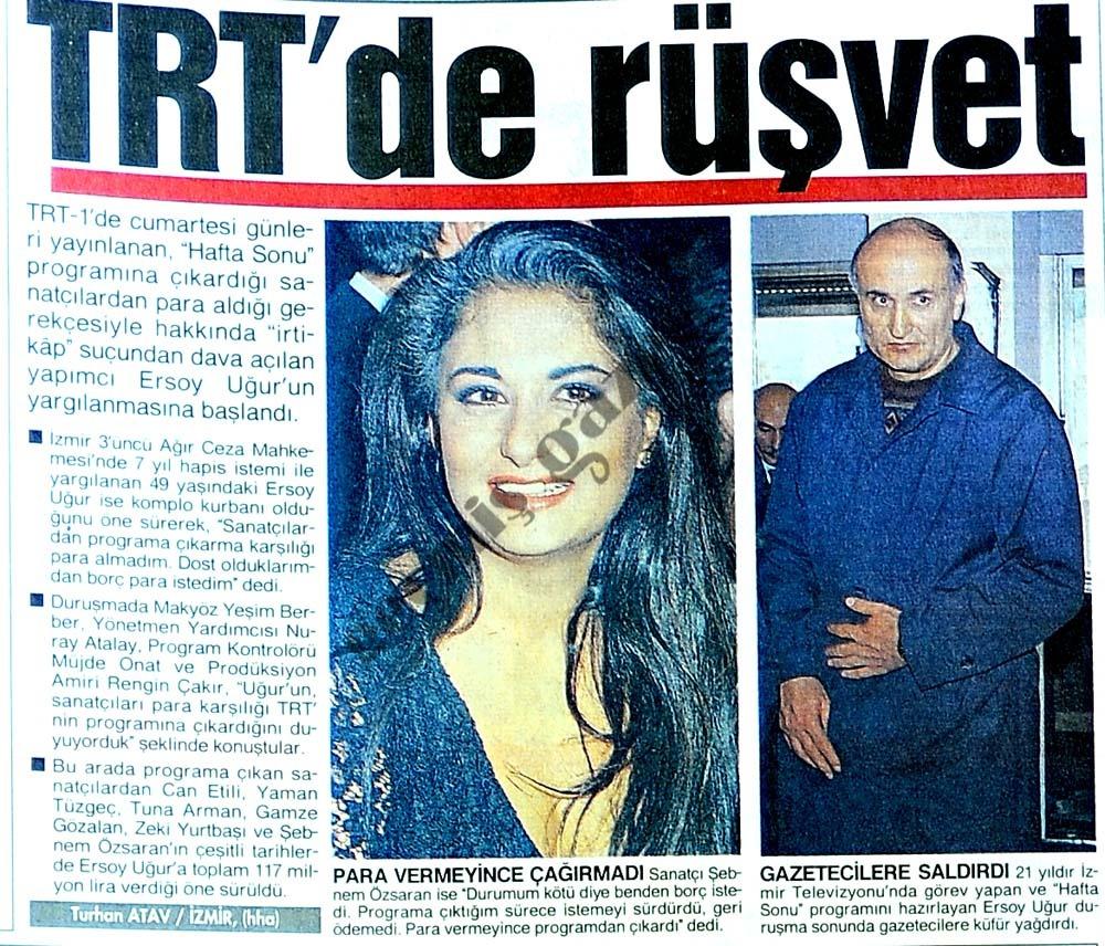 TRT'de rüşvet