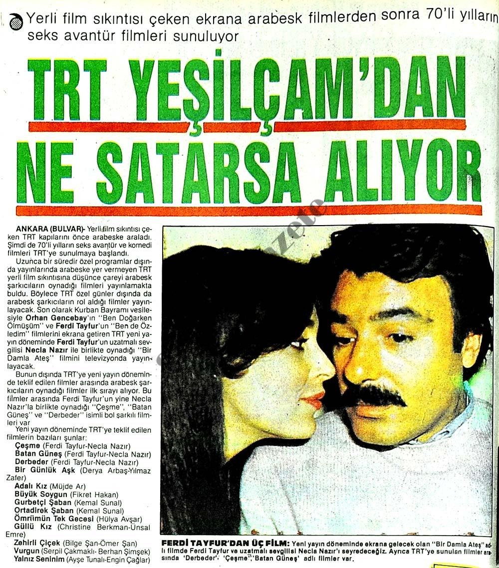 TRT Yeşilçam'dan ne satarsa alıyor