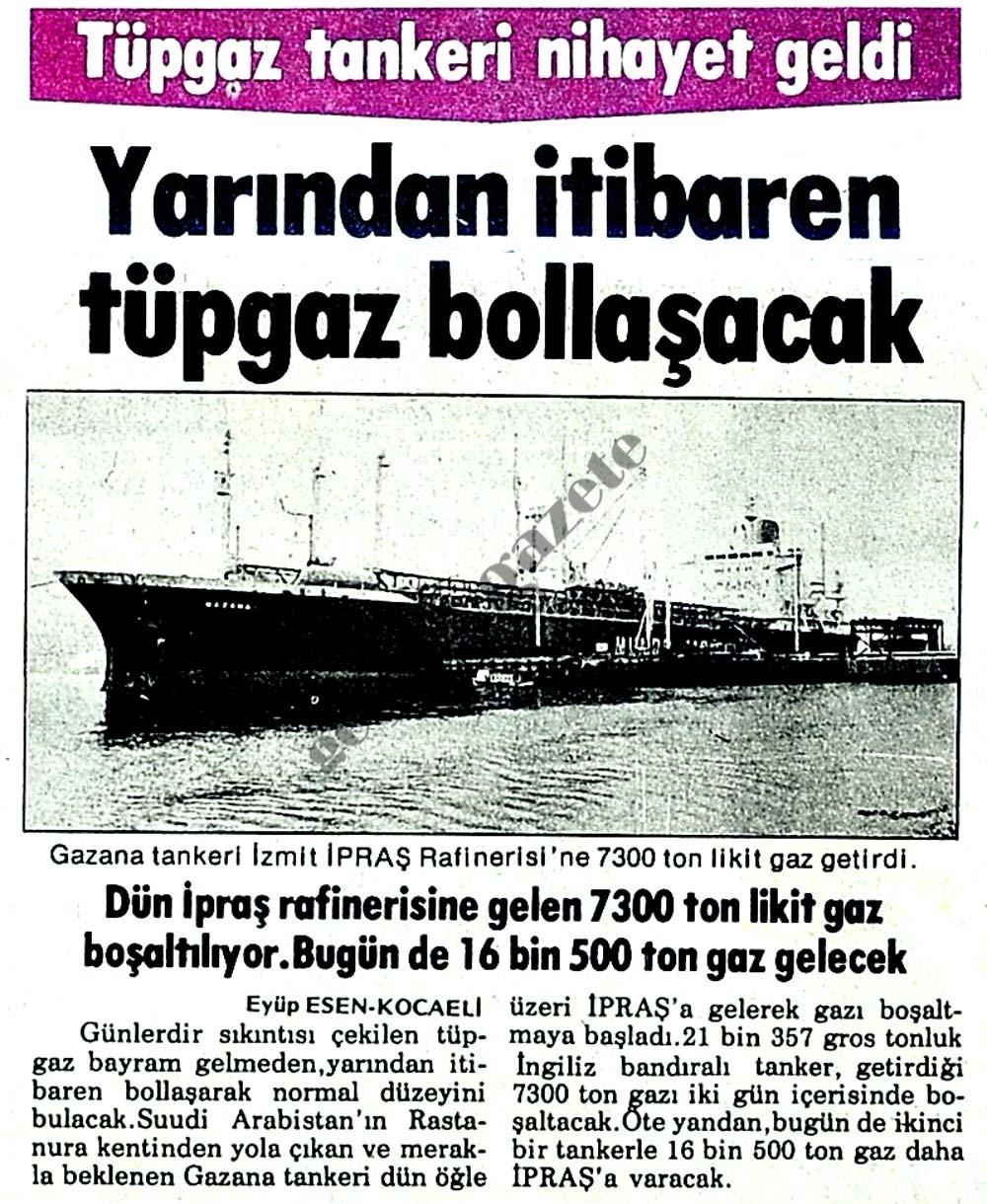 Tüpgaz tankeri nihayet geldi