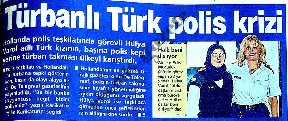 Türbanlı Türk polis krizi