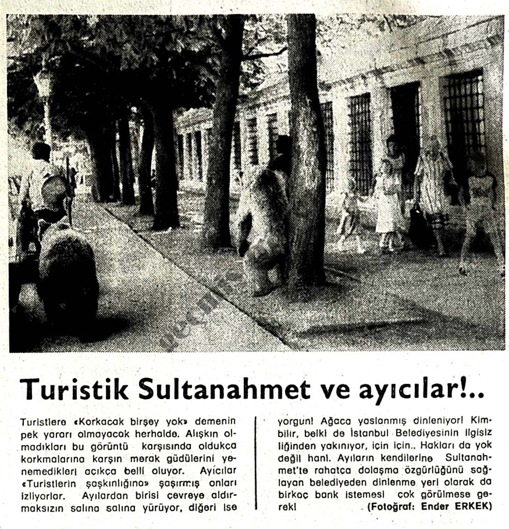 Turistik Sultanahmet ve ayıcılar!