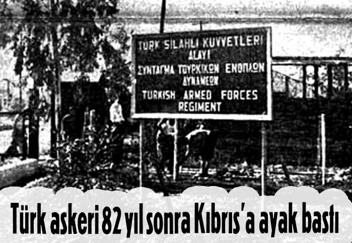Türk askeri Kıbrıs'ta