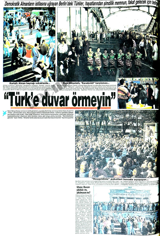 Türk'e duvar örmeyin