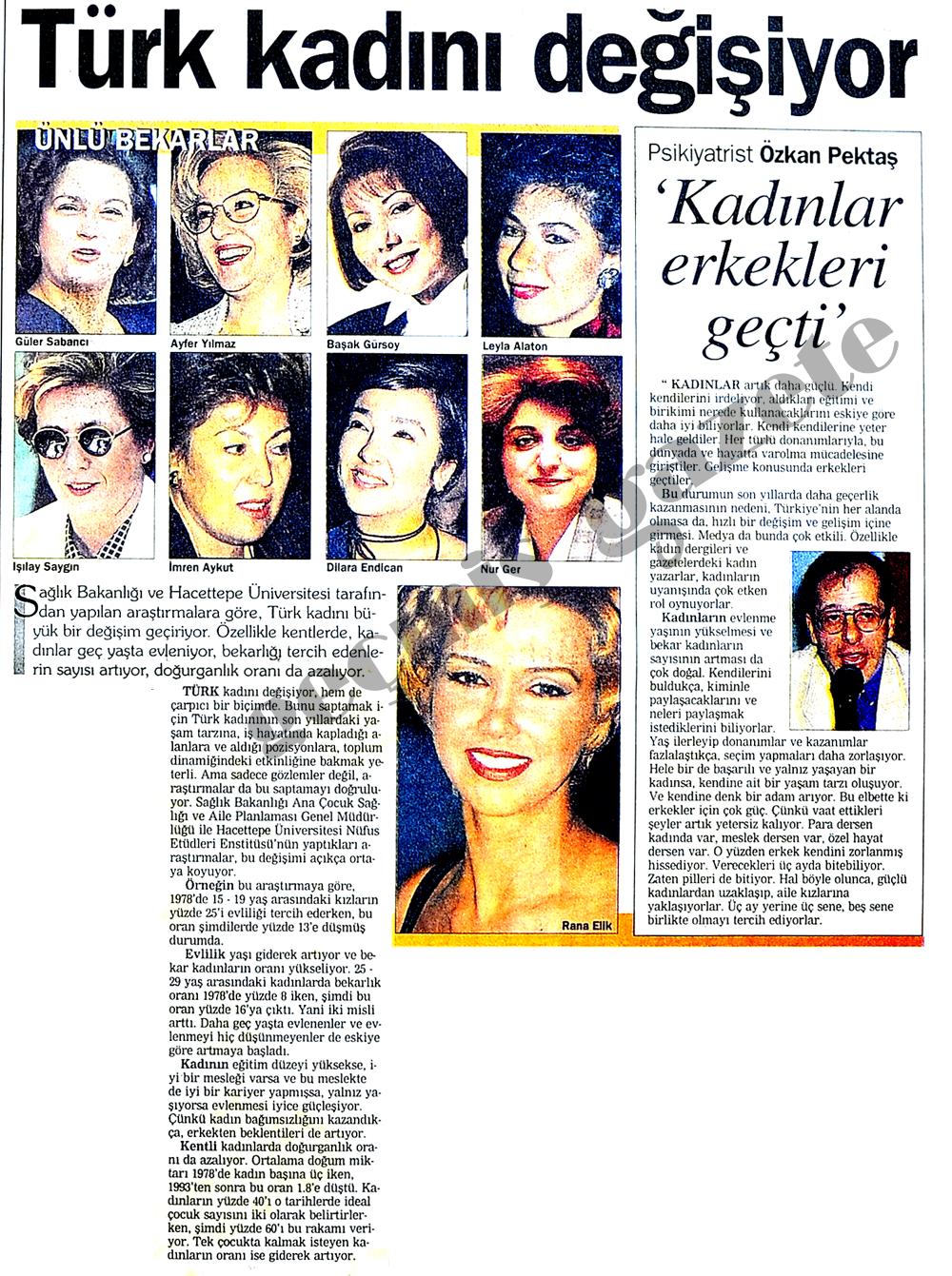 Türk kadını değişiyor
