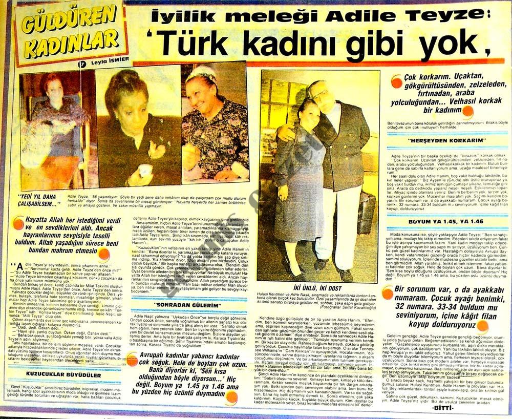 Türk kadını gibi yok
