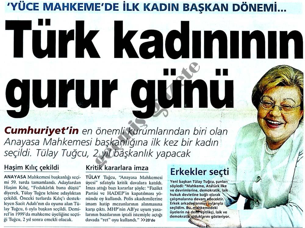 Türk kadınının gurur günü