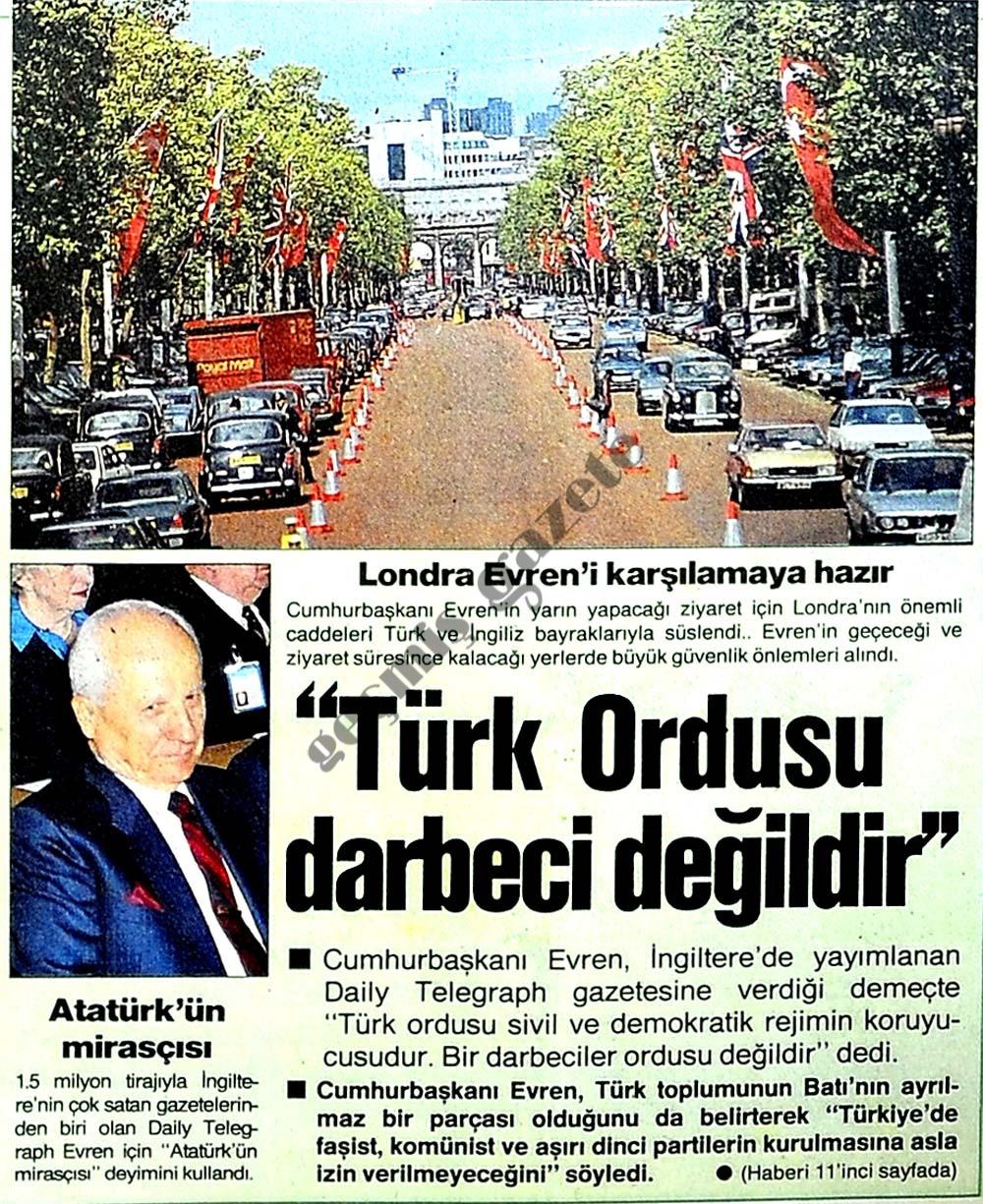 Türk Ordusu darbeci değildir
