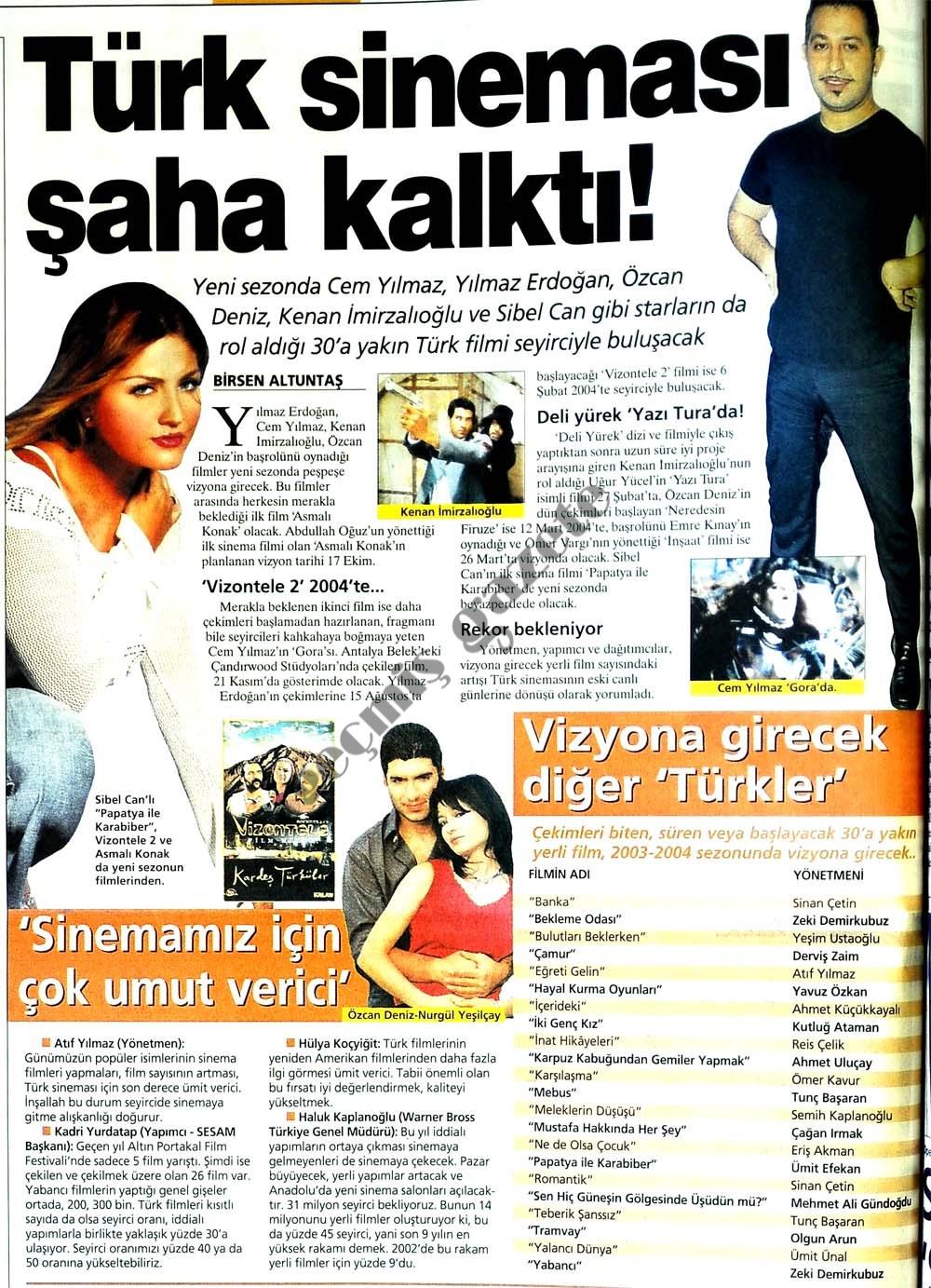 Türk sineması şaha kalktı