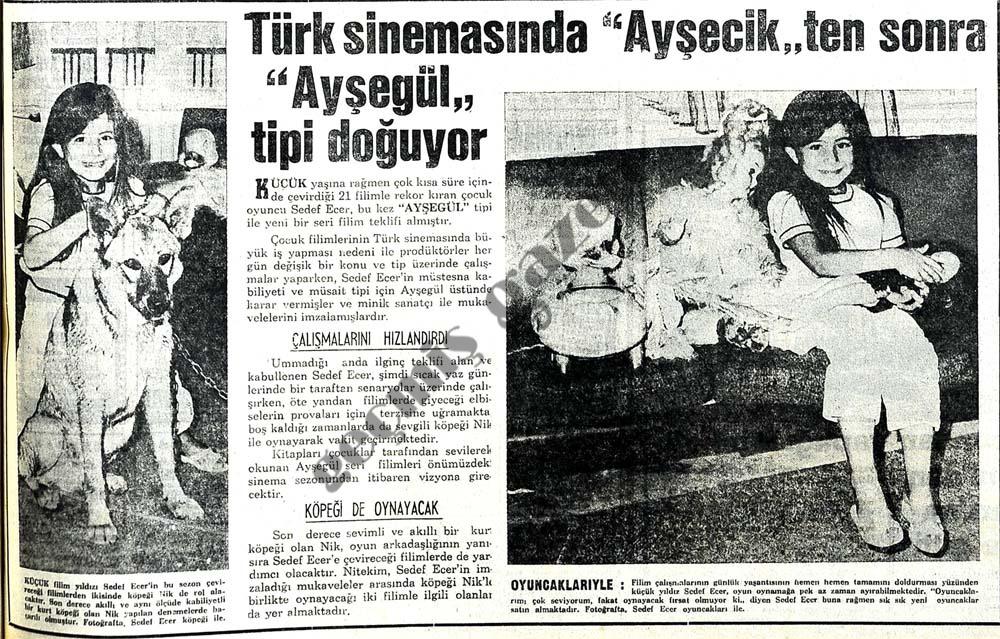 """Türk sinemasında """"Ayşecik'ten sonra """"Ayşegül"""" tipi doğuyor"""