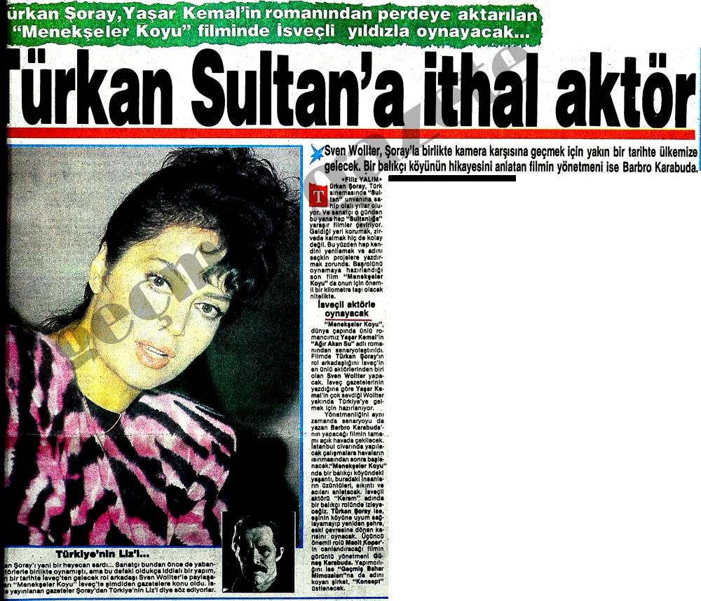 Türkan Sultan'a ithal aktör