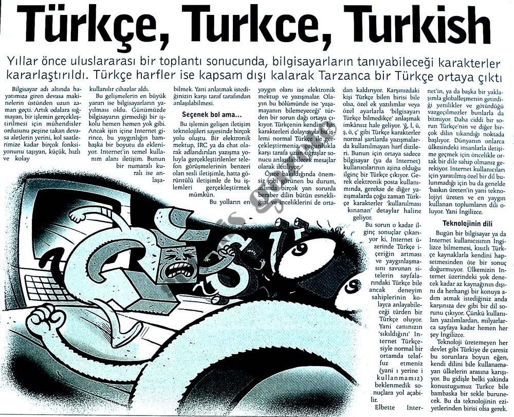 Türkçe, Turkce, Turkish