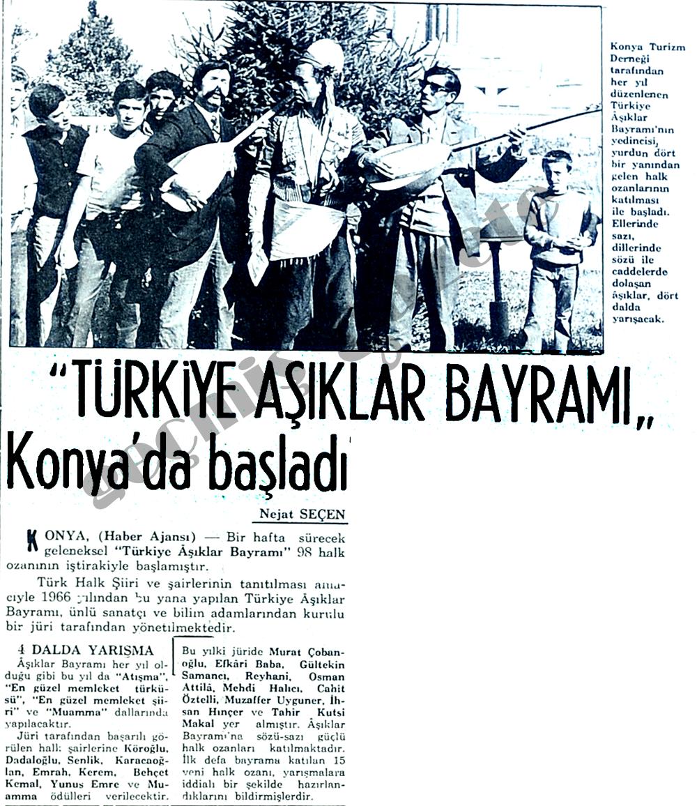 """""""Türkiye Aşıklar Bayramı"""" Konya'da başladı"""