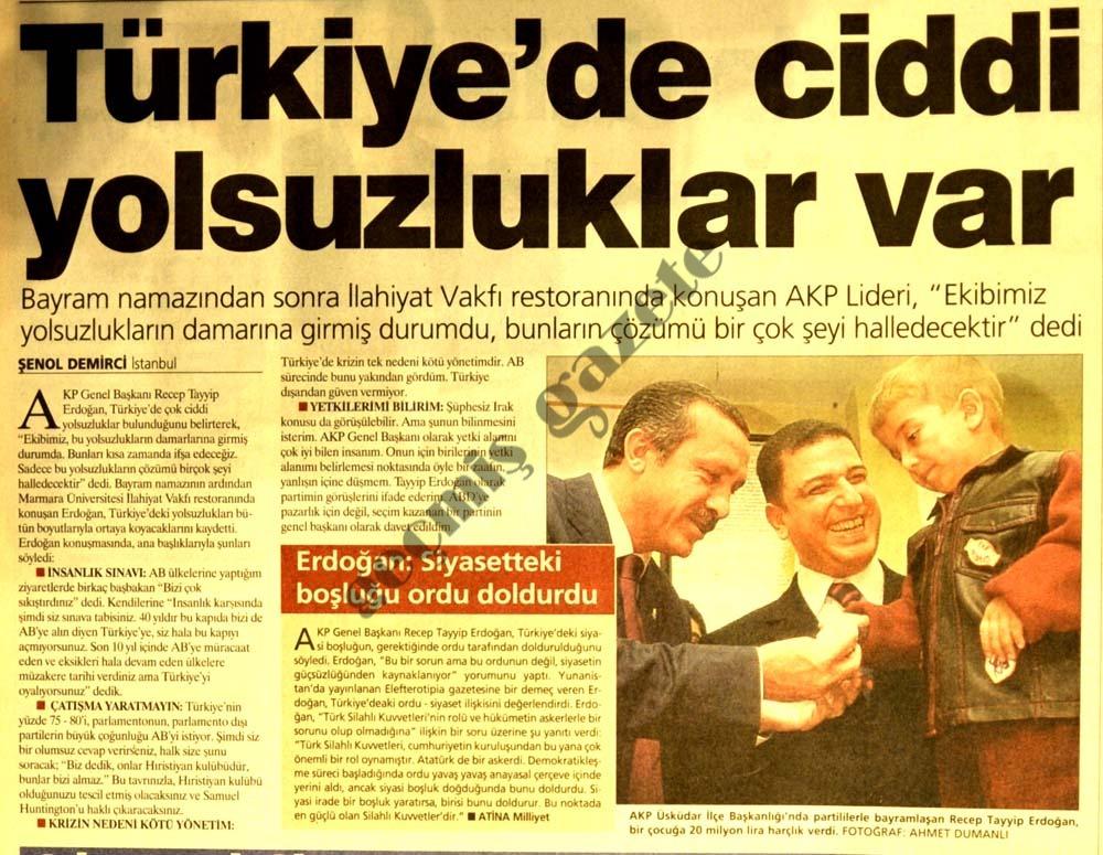 Türkiye'de ciddi yolsuzluklar var