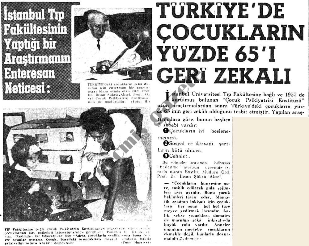 Türkiye'de çocukların yüzde 65'ı geri zekalı
