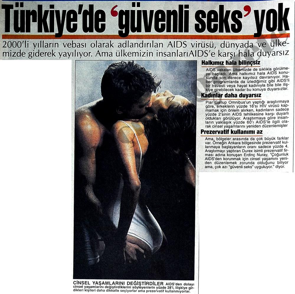 Türkiye'de güvenli seks yok