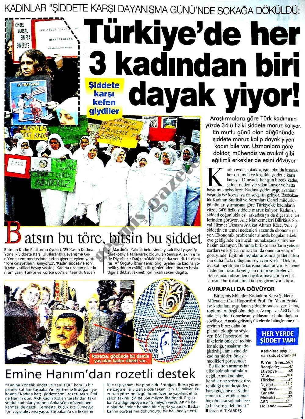 Türkiye'de her 3 kadından biri dayak yiyor