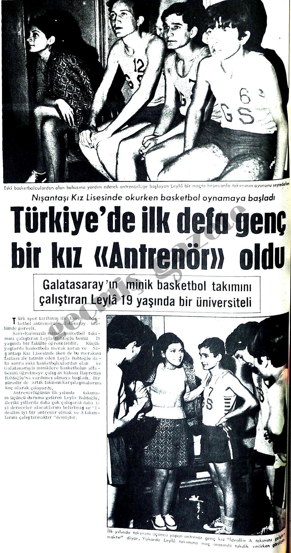 """Türkiye'de ilk defa genç bir kız """"Antrenör"""" oldu"""