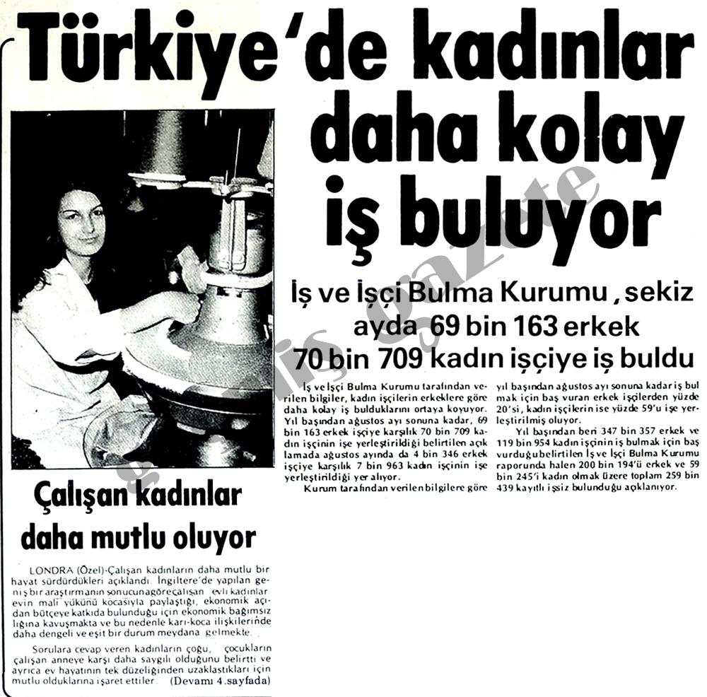 Türkiye'de kadınlar kolay iş buluyor