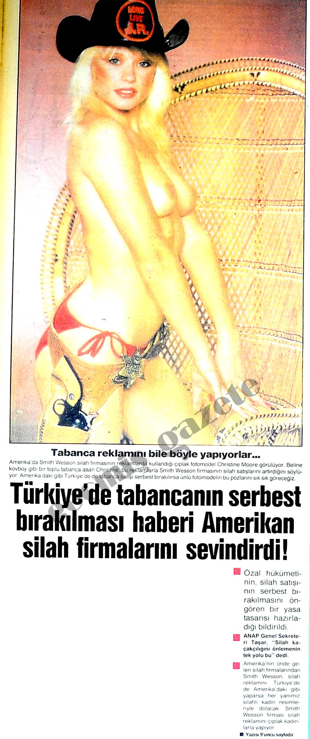 Türkiye'de tabancanın serbest bırakılması