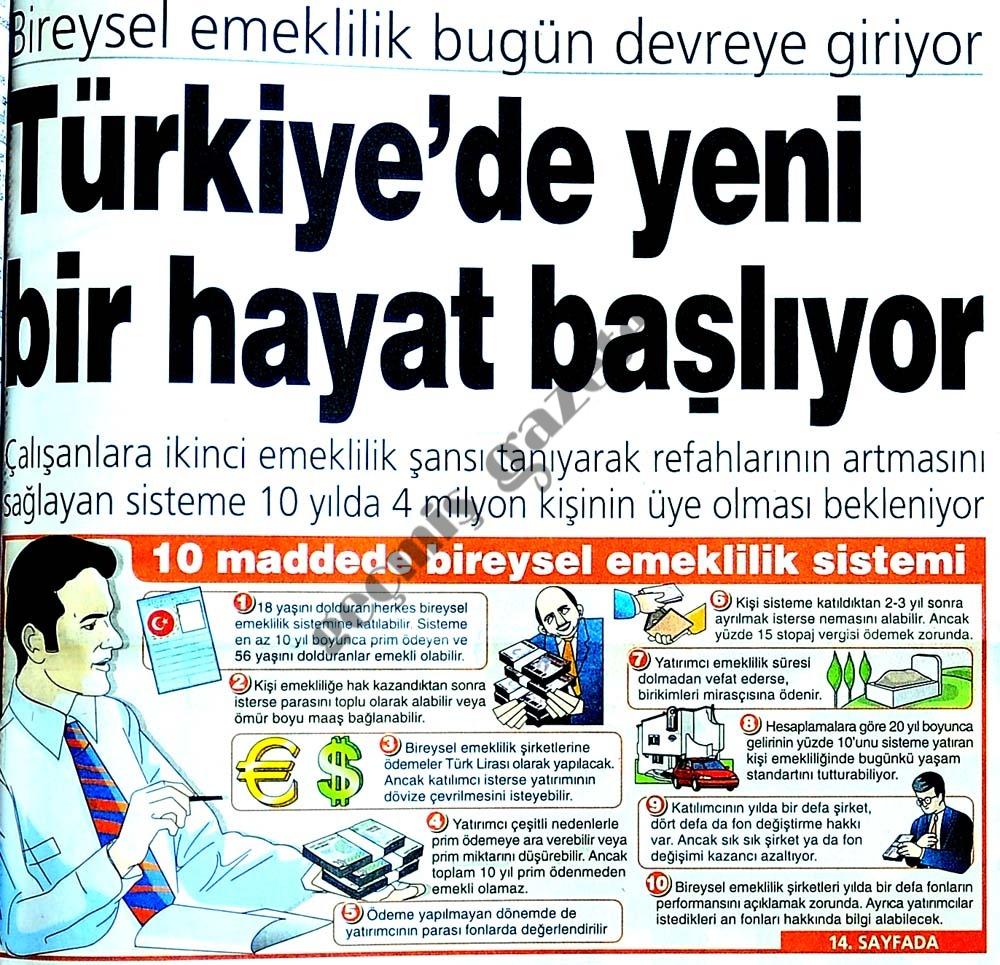 Türkiye'de yeni bir hayat başlıyor