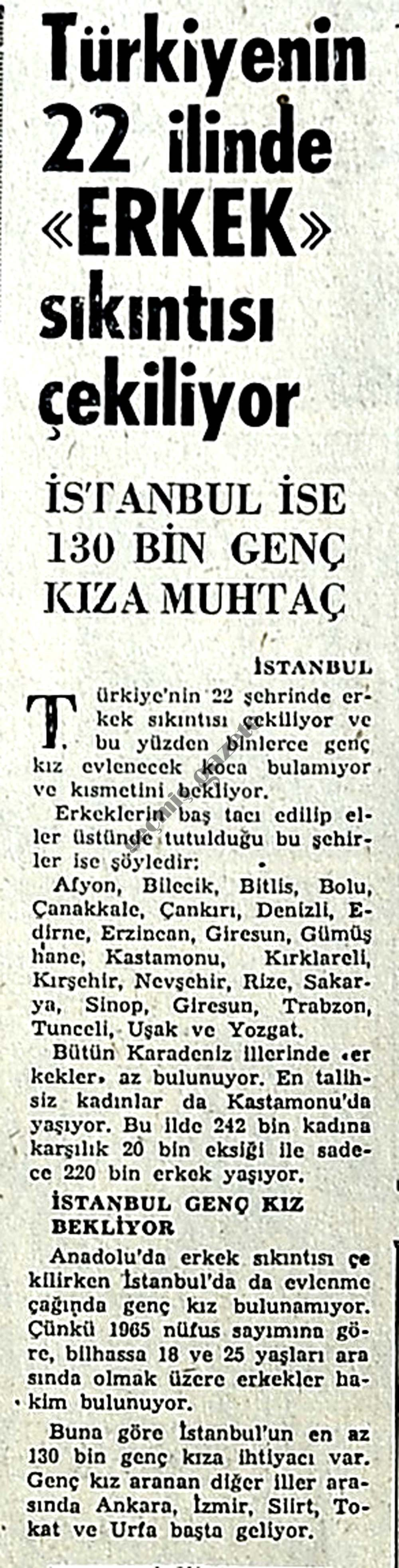 """Türkiye'nin 22 ilinde """"Erkek"""" sıkıntısı çekiliyor"""