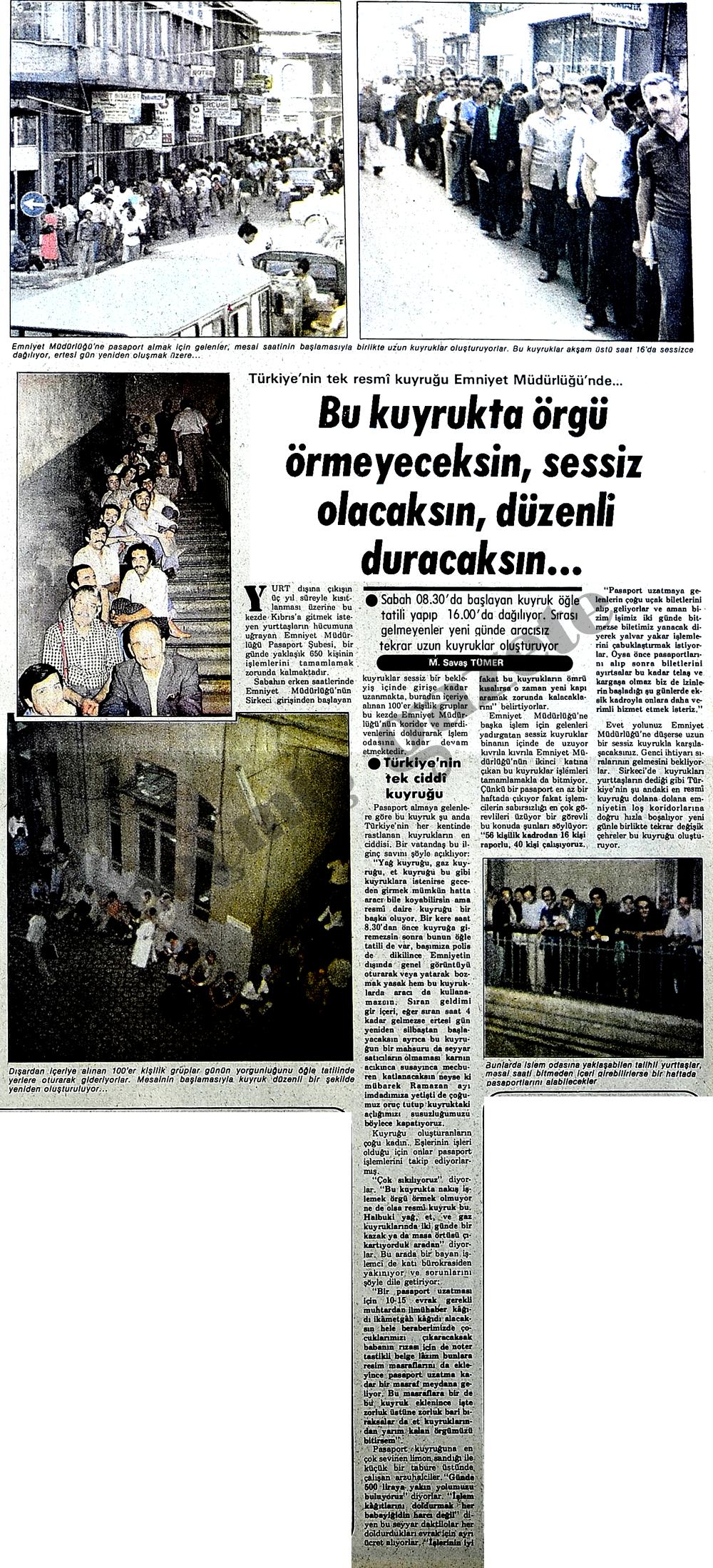 Türkiye'nin en resmi kuyruğu