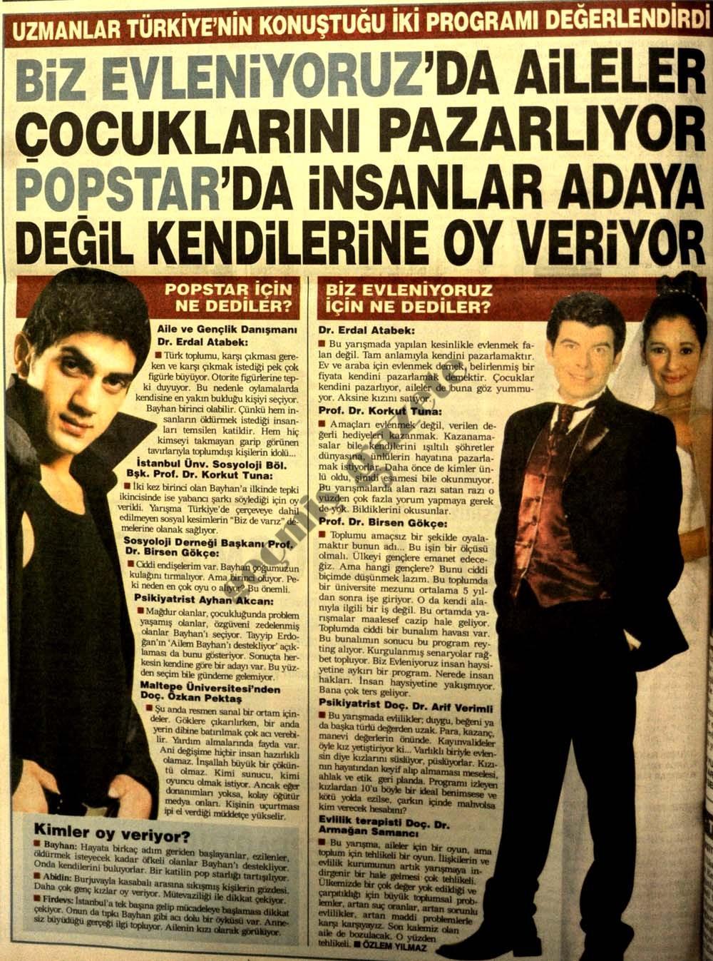 Türkiye'nin konuştuğu iki program