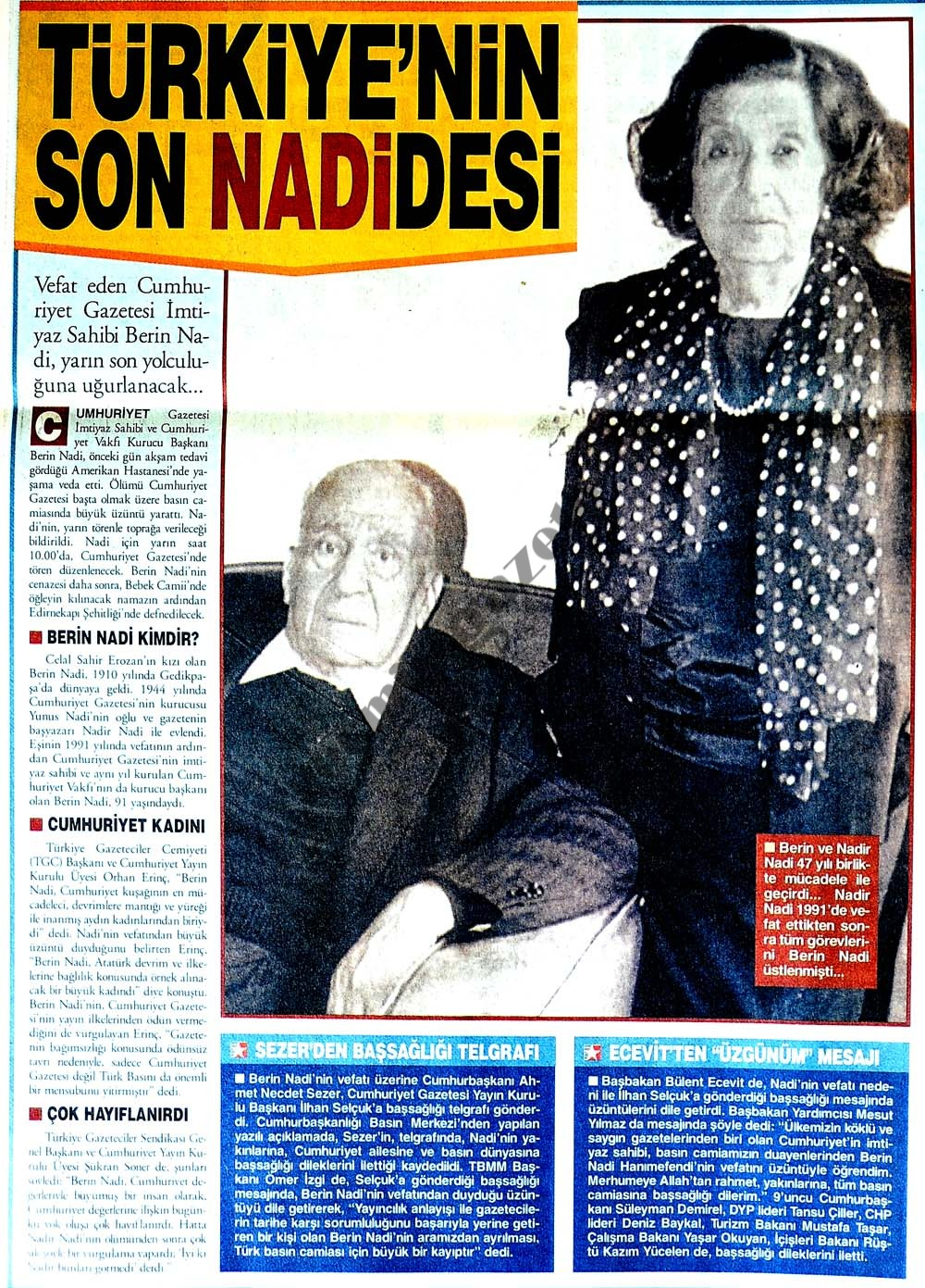 Türkiye'nin son nadidesi