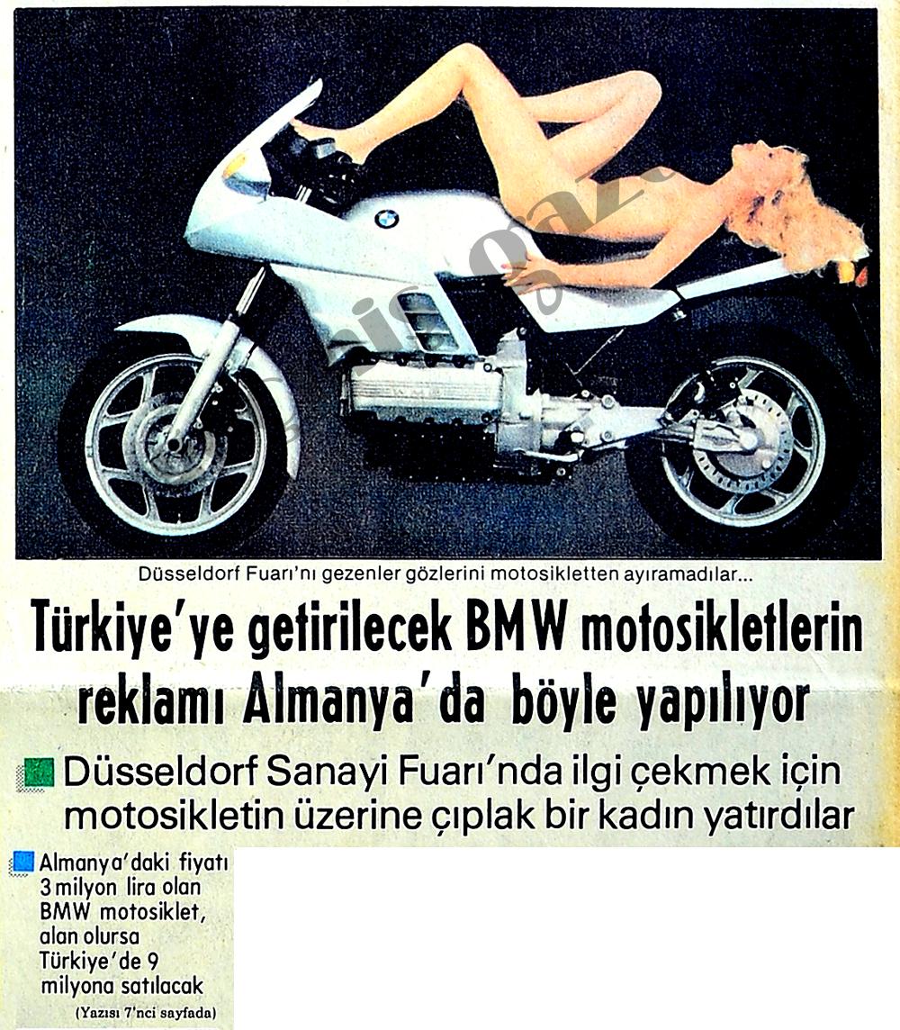 Türkiye'ye getirilecek BMW motosikletlerin reklamı Almanya'da böyle yapılıyor