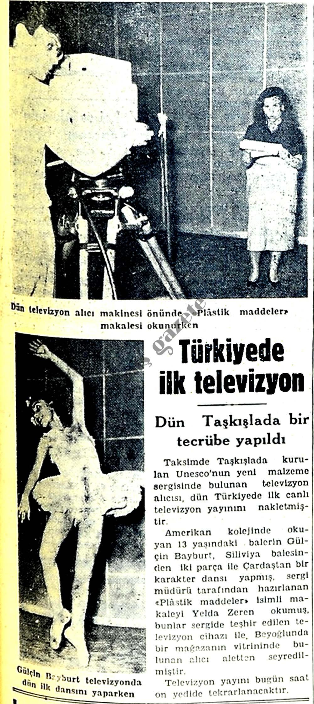 Türkiyede ilk televizyon