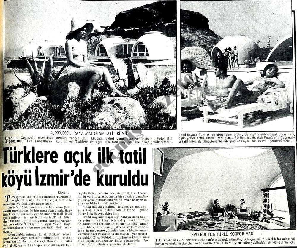 Türklere açık ilk tatil köyü İzmir'de kuruldu