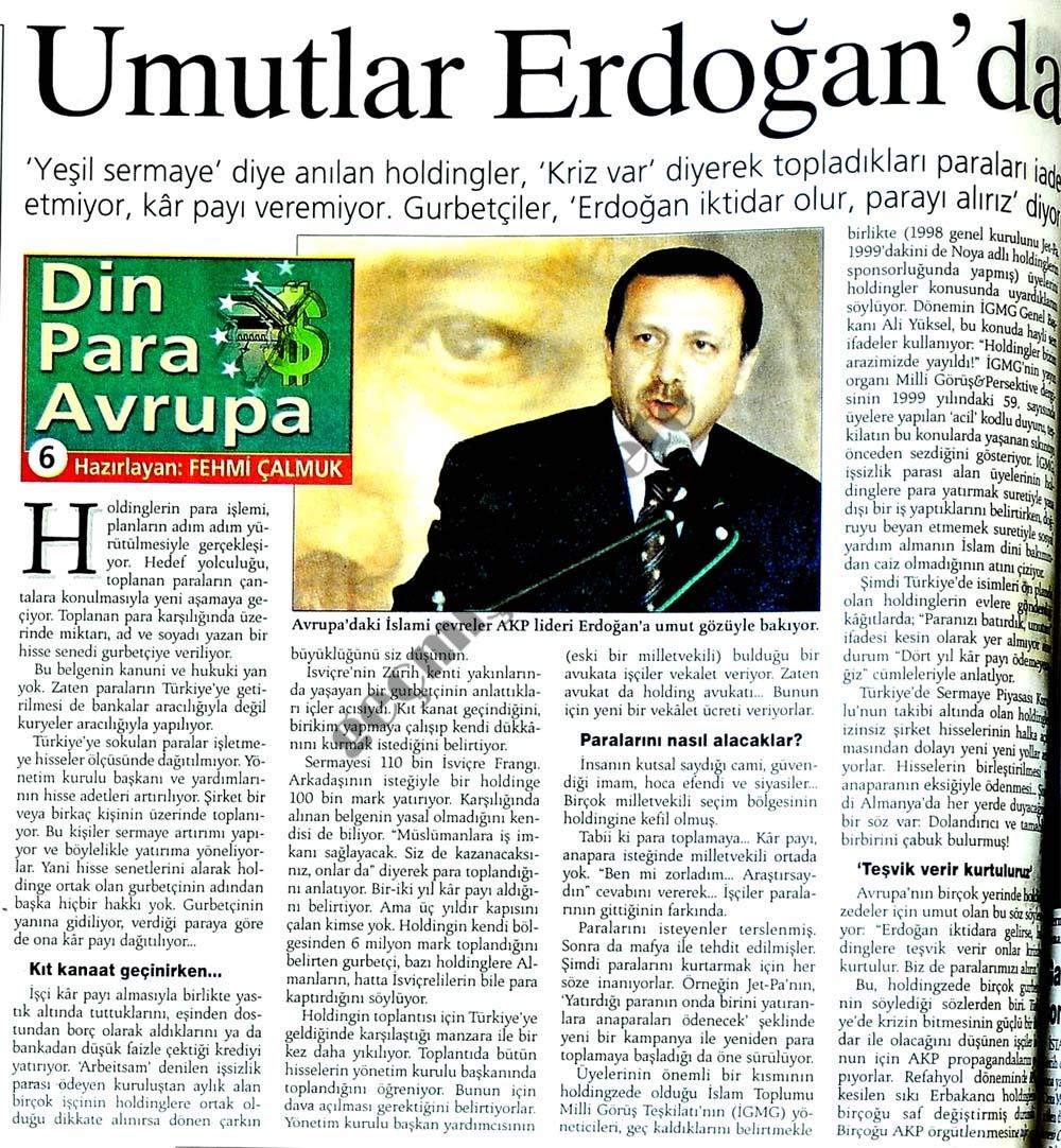 Umutlar Erdoğan'da