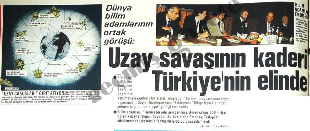 Uzay savaşının kaderi Türkiye'nin elinde