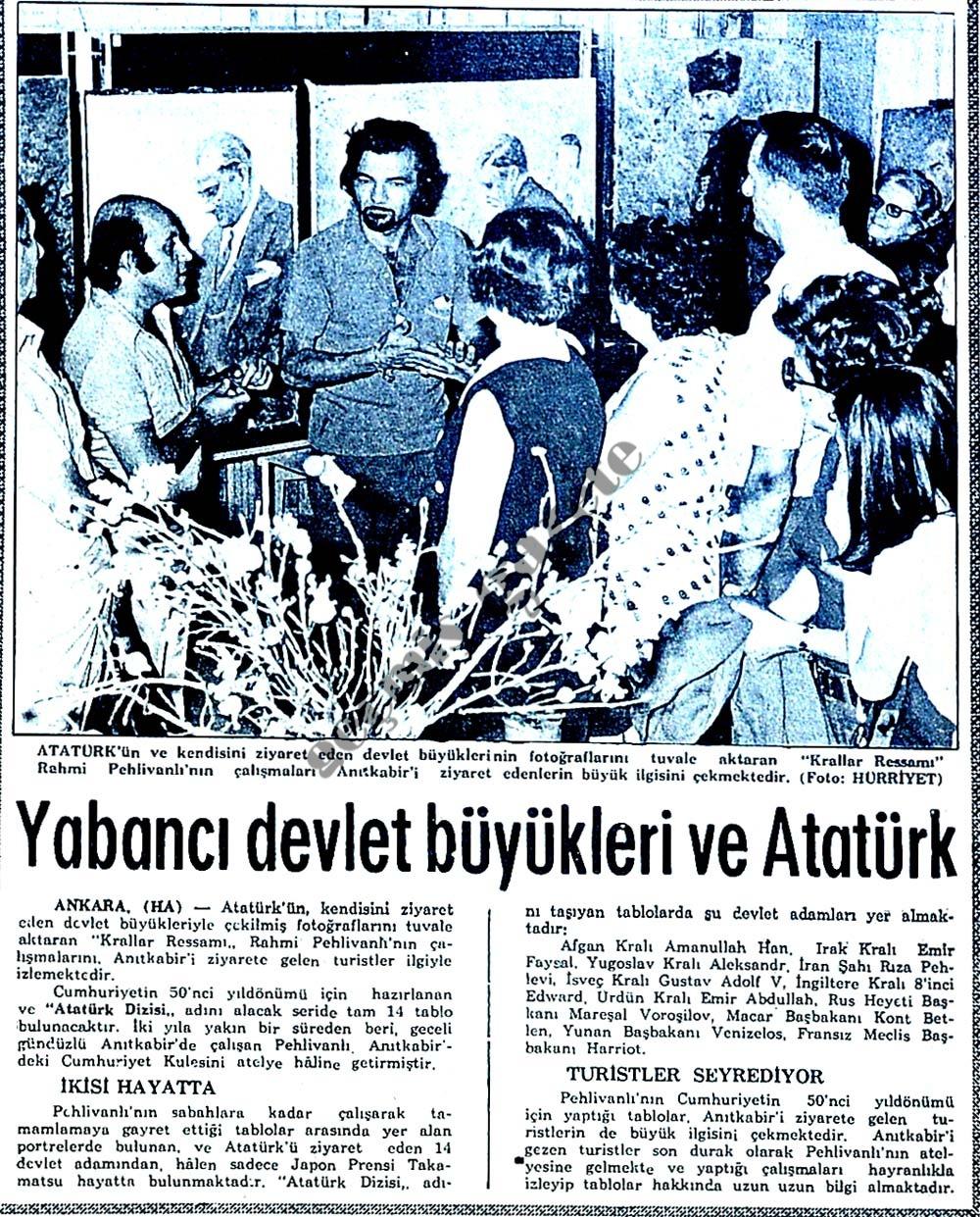 Yabancı devlet büyükleri ve Atatürk