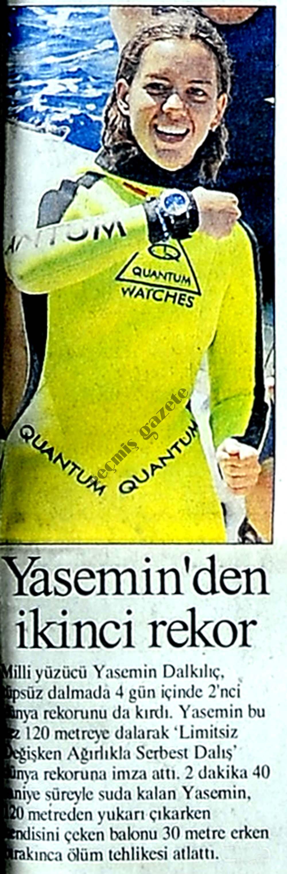 Yasemin'den ikinci rekor