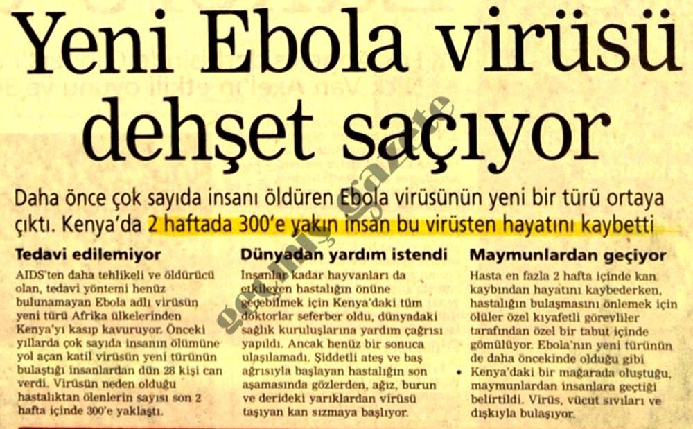 Yeni Ebola virüsü dehşet saçıyor