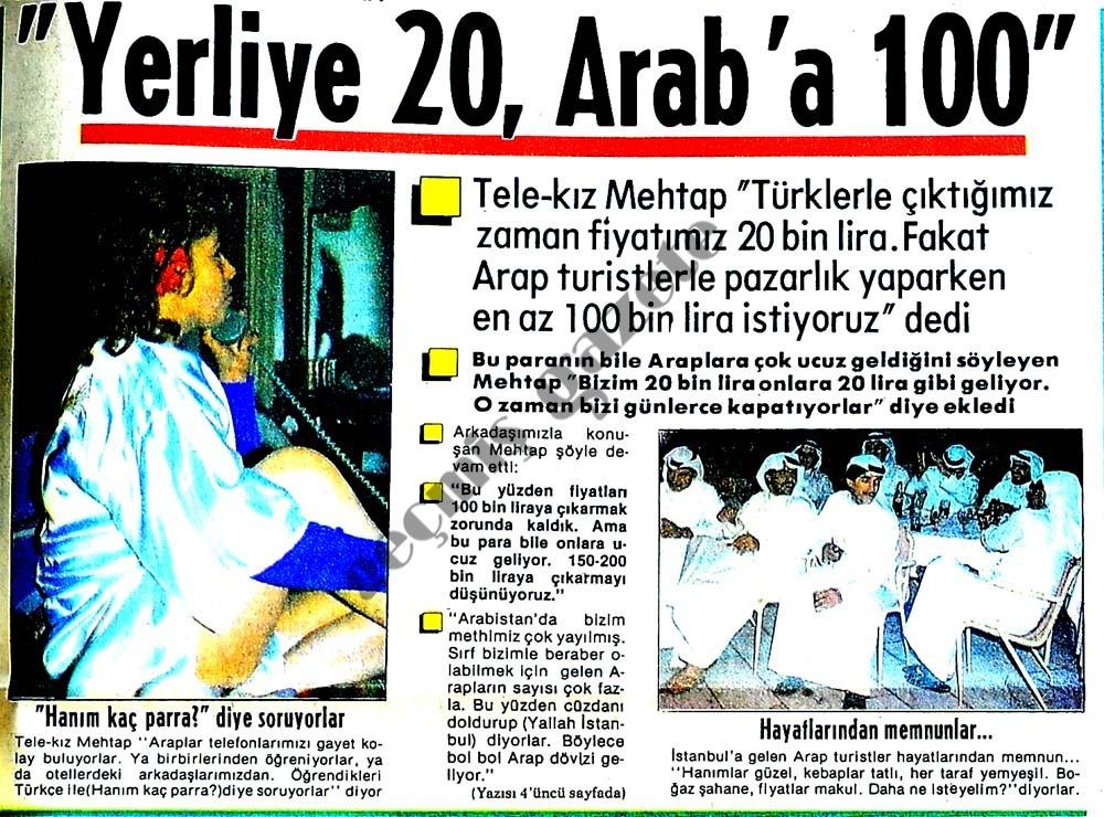 Yerliye 20. Arab'a 100