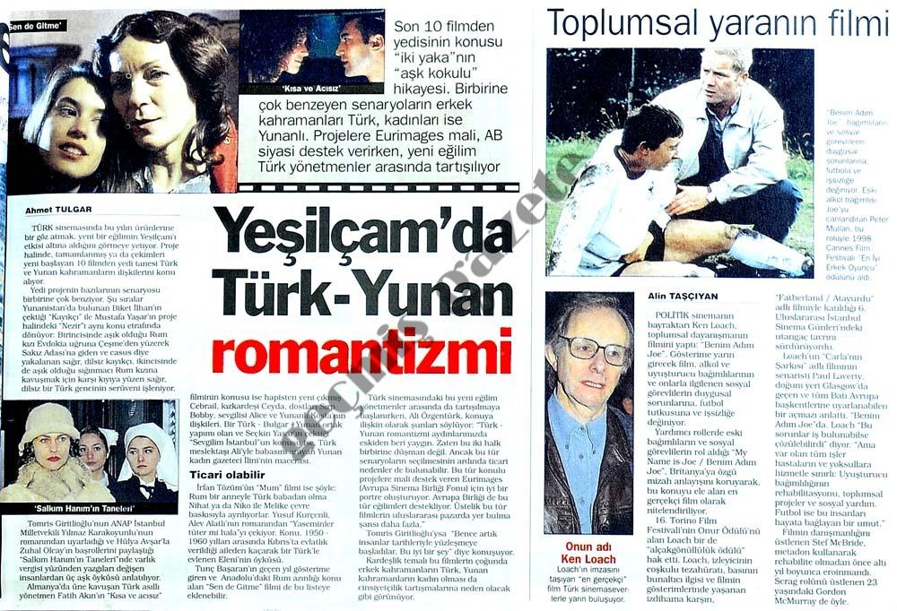 Yeşilçam'da Türk-Yunan romantizmi