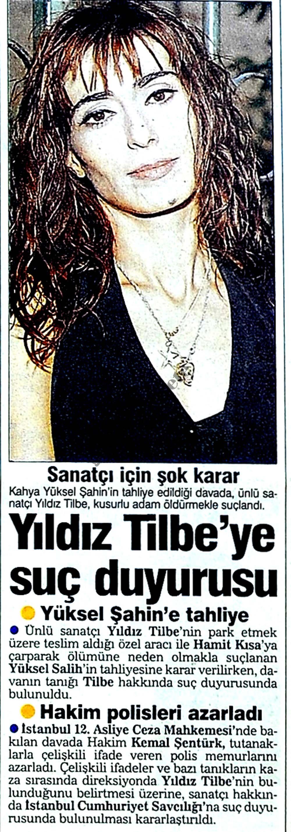 Yıldız Tilbe'ye suç duyurusu