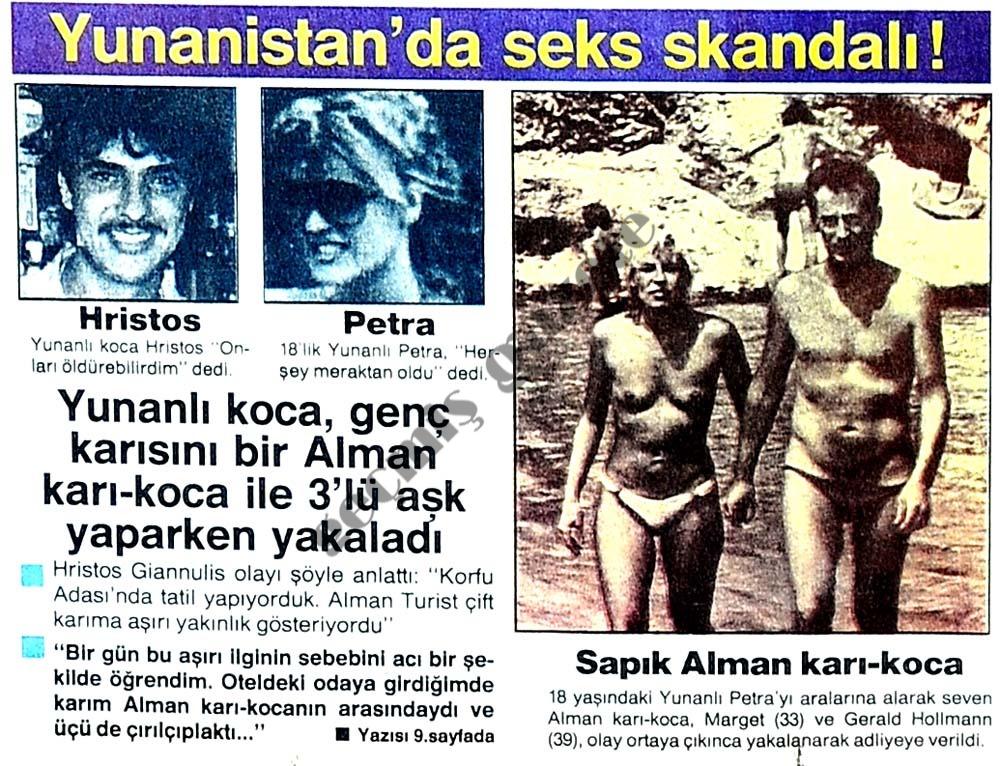 Yunanistan'da seks skandalı