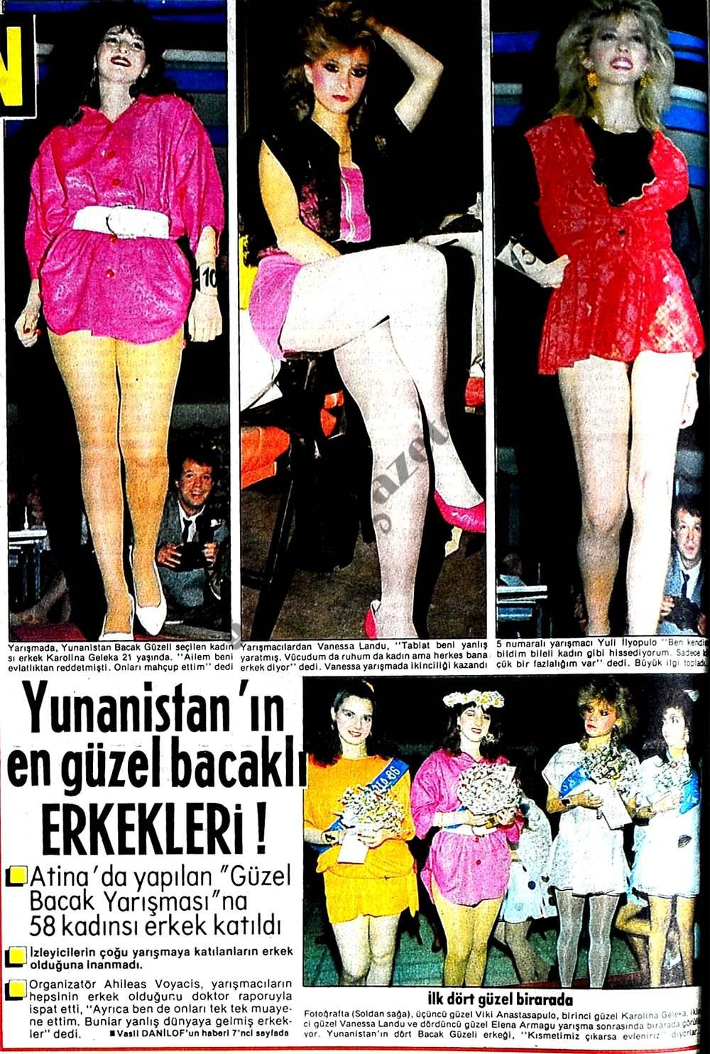 Yunanistan'ın en güzel bacaklı ERKEKLERİ !