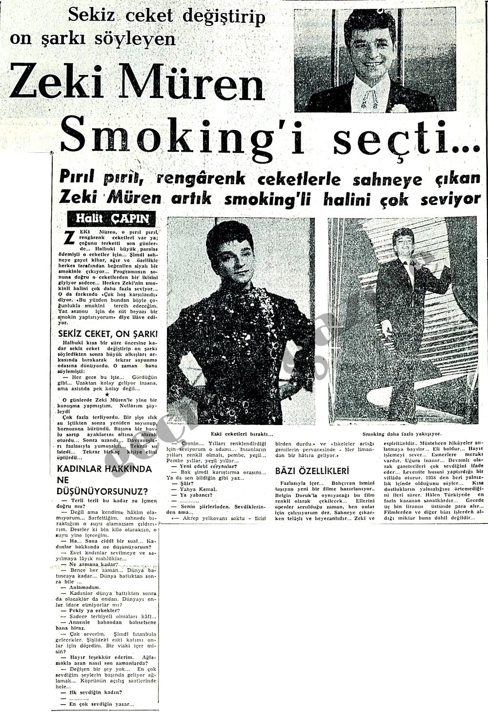 Zeki Müren Smoking'i seçti
