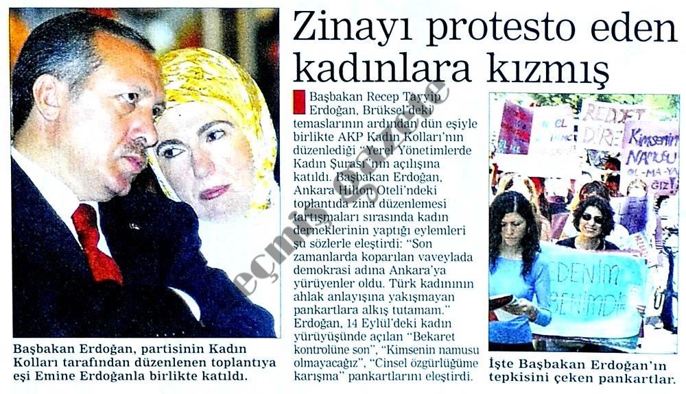 Zinayı protesto eden kadınlara kızmış
